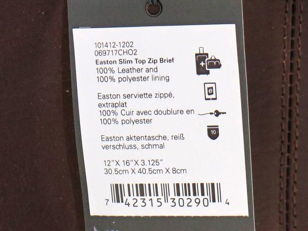 TUMI トゥミ 69717 Easton Slim Top Zip Brief レザーブリーフケース 514 ブラウン 茶 BROWN_画像7
