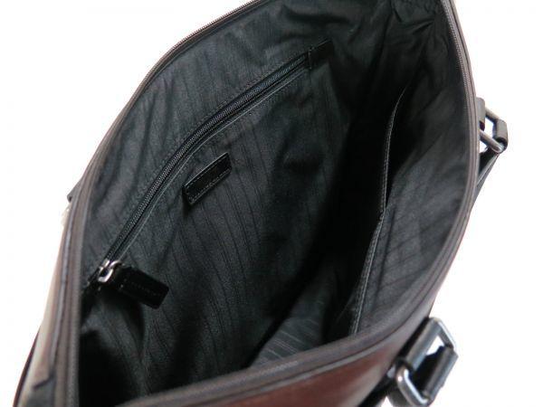 TUMI トゥミ 69717 Easton Slim Top Zip Brief レザーブリーフケース 514 ブラウン 茶 BROWN_画像9