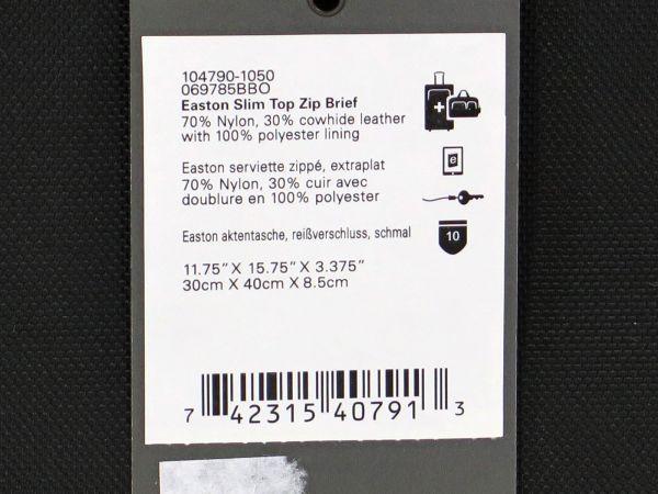 TUMI トゥミ 69785 Easton Slim Top Zip Brief カーボン×ナイロン ブリーフケース 516 黒 ブラック BLACK_画像7