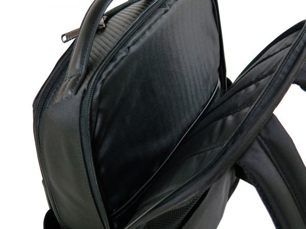 TUMI トゥミ 69787 カーボン×ナイロン Clayton Backpack ビジネス リュックサック バックパック PC収納可能 黒 ブラック BLACK / 513_画像9