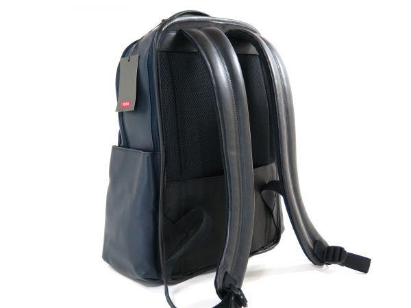 TUMI トゥミ 69780 本革 総レザー Clayton Backpack ビジネス リュックサック バックパック PC収納可能 紺・黒 NAVY BLACK / 512_画像4