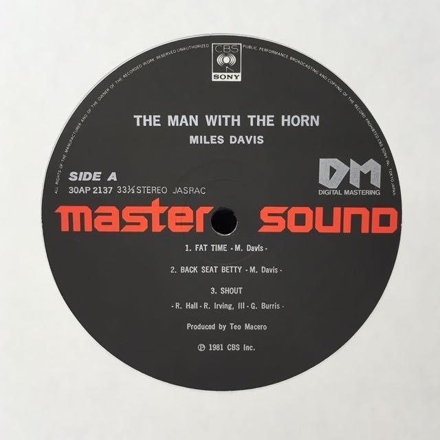 AUDIOPHILE●JAZZ/MILES DAVIS(TP)/ THE MAN WITH THE HORN (LP) 高音質盤 (n278)_画像4