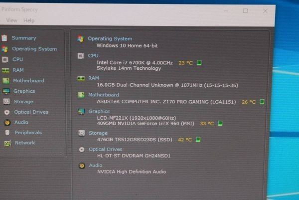 ★UNITCOM 自作パソコン Core i7-6700K 4.00Ghz 16G 新品 SSD 512G GTX 960 WIN 10★中古★3_画像10