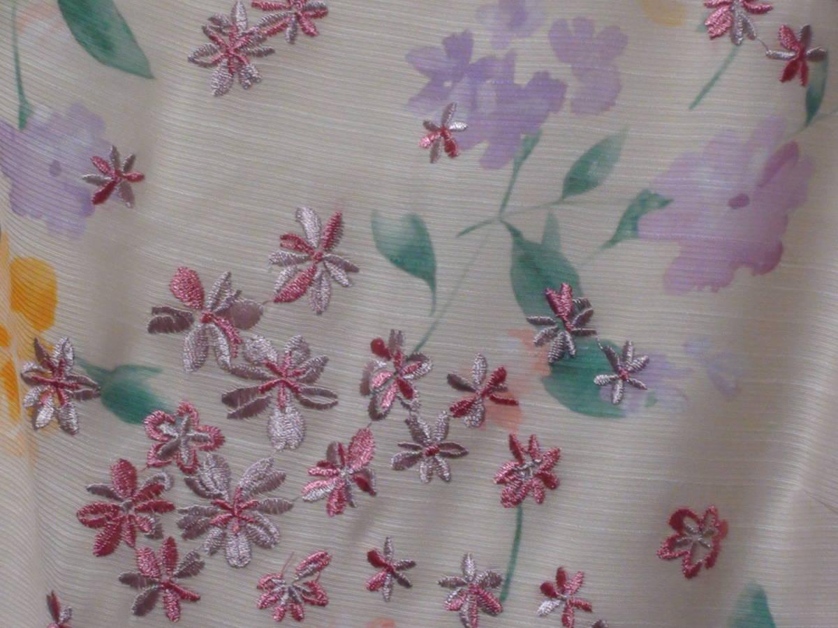 新品タグ付 サンプル品 Rose Tiara(ローズティアラ)スカラネックフラワー刺繍ワンピース 大きいサイズ42_画像9