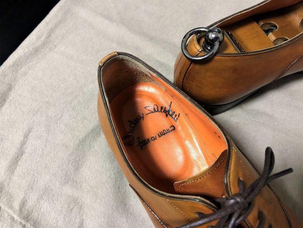 美品 サントーニ 6.5 santoni ストレートチップ ドレスシューズ 3412_画像2