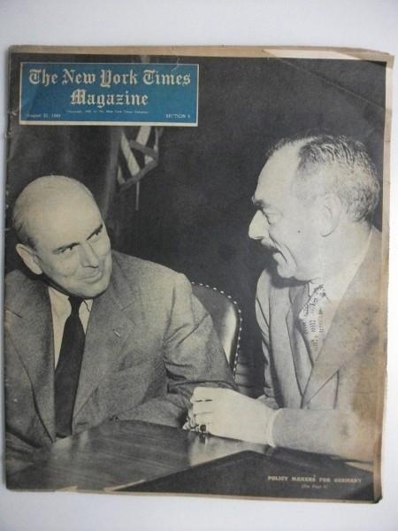 大判 The new york Times Magazine 8/21 1949年 ニューヨーク・タイムス・マガジン _画像1