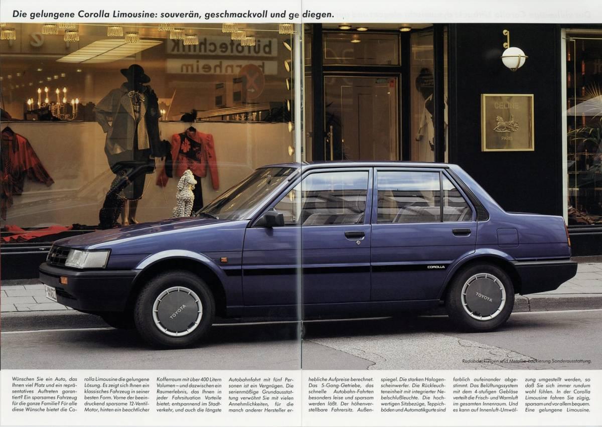 【独トヨタ】カローラFX/カローラ欧州仕様車カタログ_画像2