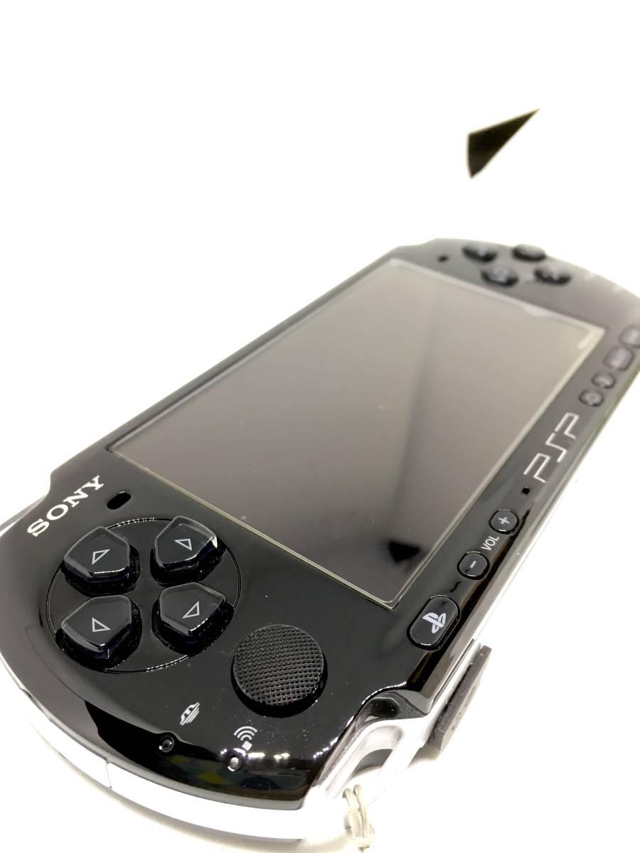【 極 美品 】SONY PSP 3000 ピアノ ブラック 付属品完備 バッテリー メモリースティック付き 送料無料_画像2