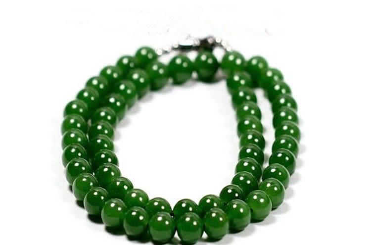 和田玉碧玉ネックレス 緑の玉のネックレス _画像4
