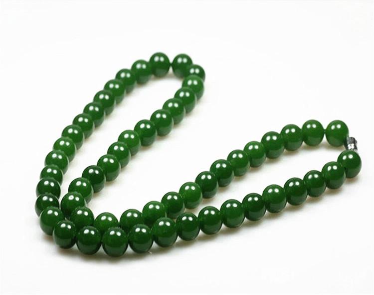 和田玉碧玉ネックレス 緑の玉のネックレス _画像7