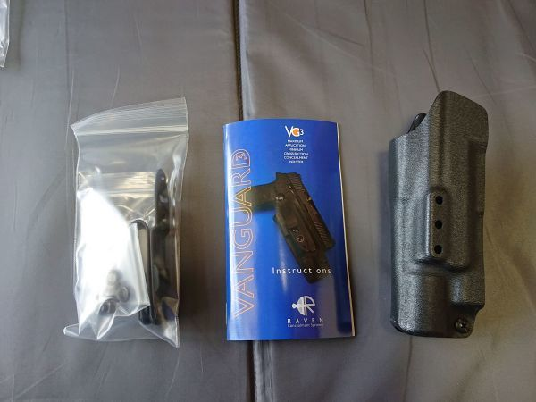 RAVEN Concealment Systems VanGuard 3 - Light Compatible Holster KW: ホルスター Surefire X300 ライト EAGLE LBT CRYE TYR ATS *:K_画像3