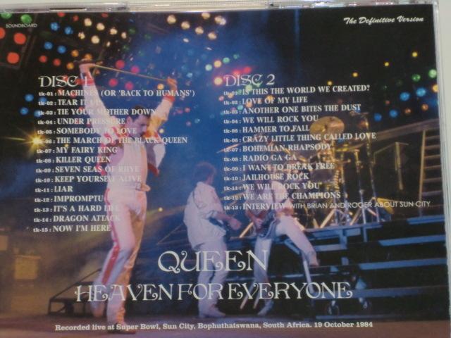 ■QUEEN/HEAVEN FOR EVERYONE/1984年南アフリカ公演・2CD■_画像2