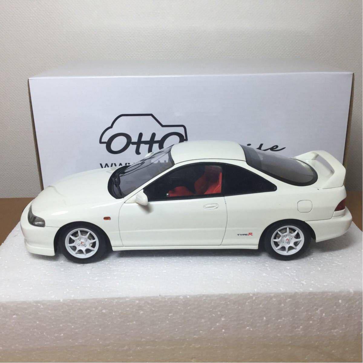 ☆レア 1/18 otto ホンダ インテグラ DC2 (ホワイト)タイプR / オットー モービル Honda TypeR OTM223 OttOmobile レジンモデル ☆_画像4