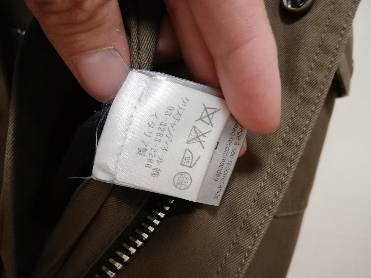ディオールオム ミリタリー ジャケット コート 中綿入り 44 Dior homme_画像6