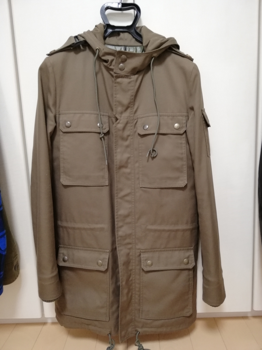ディオールオム ミリタリー ジャケット コート 中綿入り 44 Dior homme