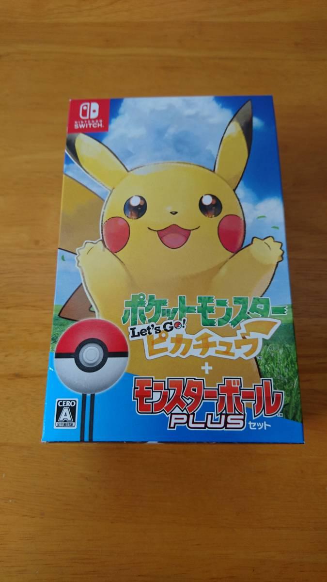 【中古】ポケットモンスター Let's Go! ピカチュウ モンスターボール Plusセット Nintendo Switch (欠品あり)_画像1