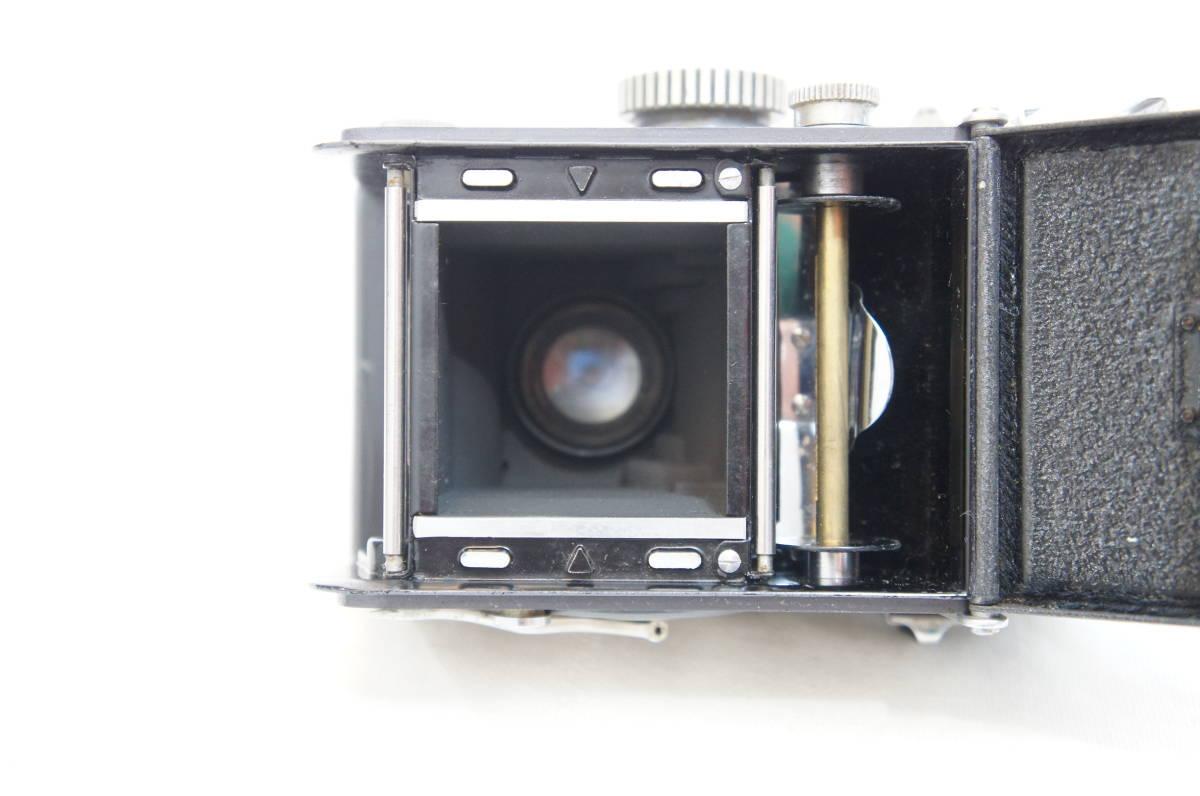 S44363F ジャンク品◎ヤシカ Yashica-44 二眼レフ◎レンズ 1:3.5 f=60mm◎レンズフィルター/レンズフード付き【中古品】_画像8