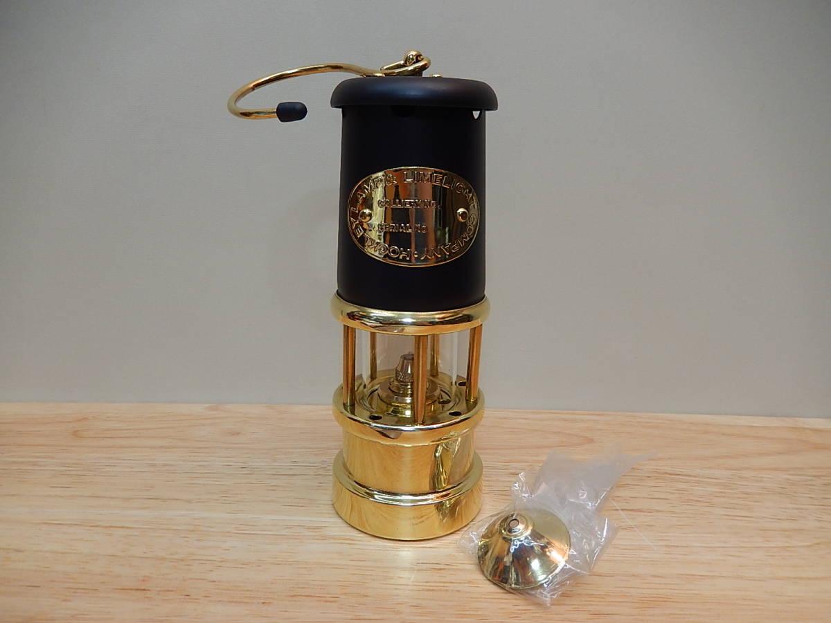 N49929A 未使用 JD Burford マイナーズ ランプ Mサイズ ブラック&ブラス #97 箱あり 鉱夫のランプ オイルランプ ランタン JDバーフォード_画像2