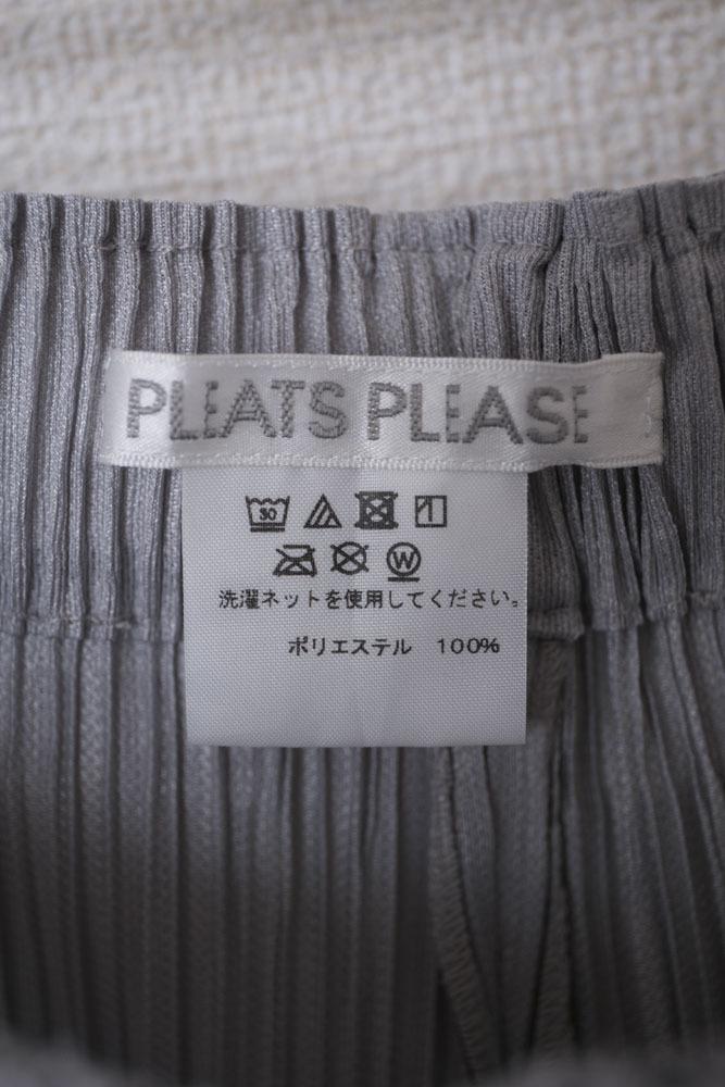 60★8★PLEATS PLEASE★プリーツプリーズ★ワイドパンツ★ライトグレー★サイズ1★PP73-JF433★㈱イッセイミヤケ_画像7