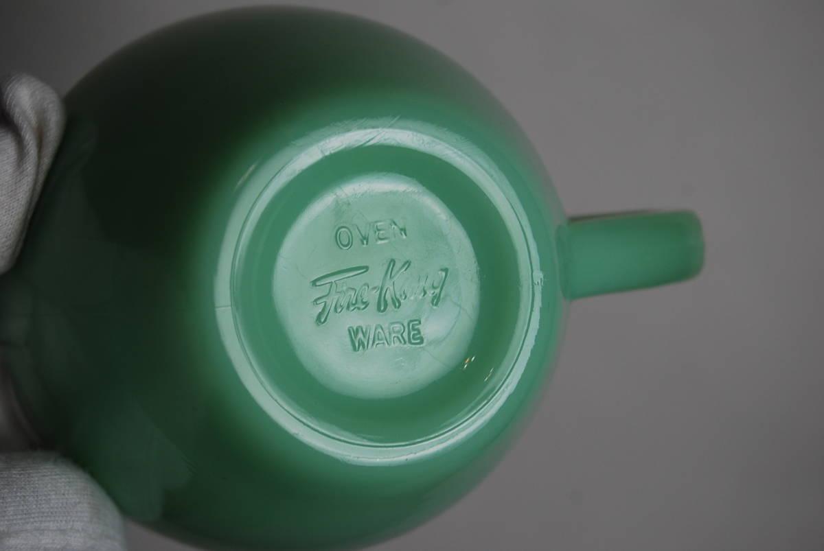 ファイヤーキング ジェダイ エキストラヘビー カップ&ソーサー アンティーク食器 コーヒーなどに♪ カップにストレスクラック有り_画像6