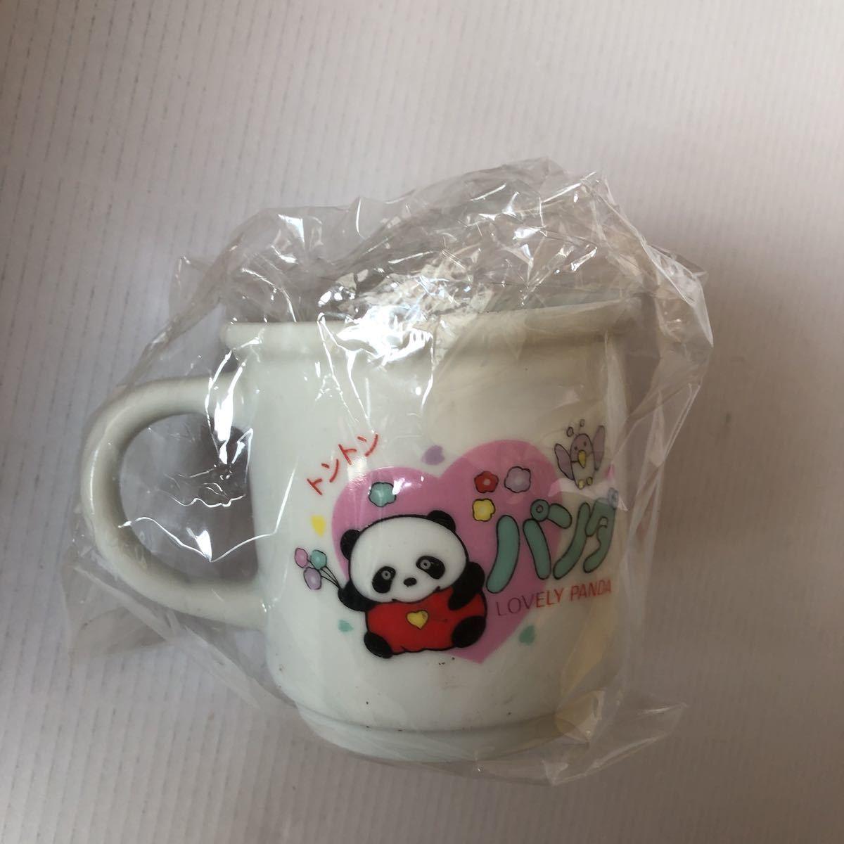トントン パンダの親子 陶器 コップ マグカップ LOVELY PANDA Shunquen 昭和レトロ アンティーク_画像2