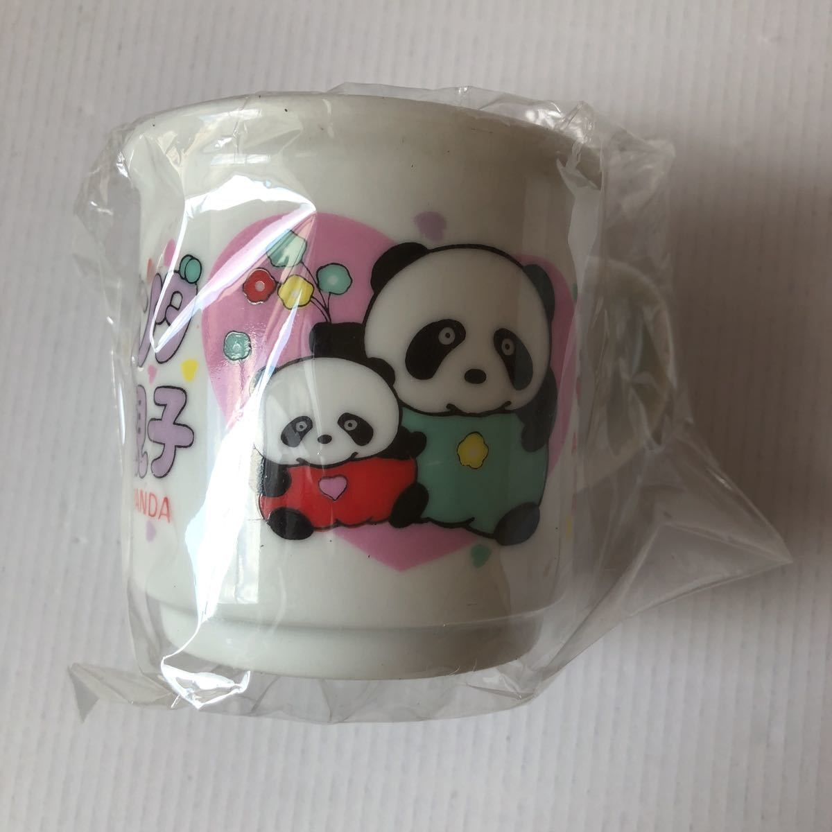 トントン パンダの親子 陶器 コップ マグカップ LOVELY PANDA Shunquen 昭和レトロ アンティーク_画像1