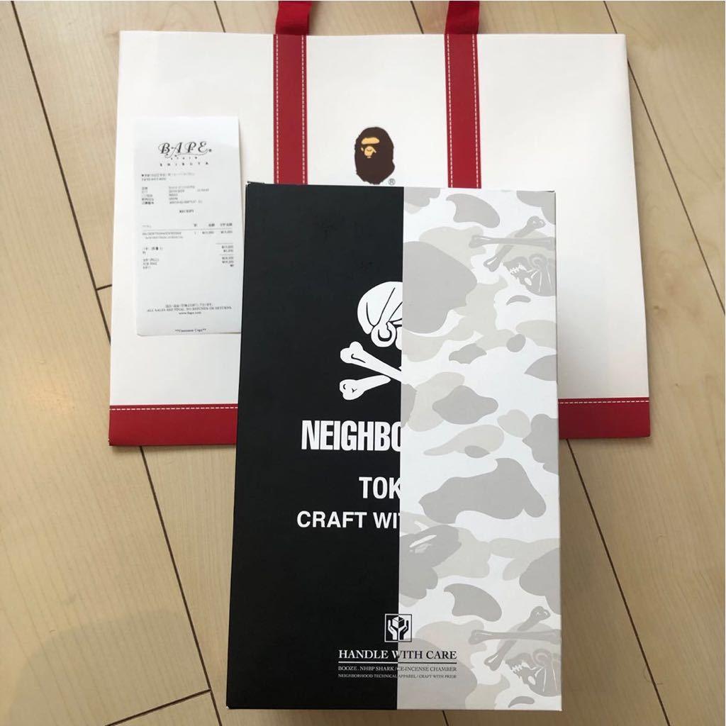 A BATHING APE BAPE × NBHD SHARK INCENSE CHAMBER White ネイバーフッド チャンバー 2019SS お香立て シャークパーカー 白 フーディー_画像5