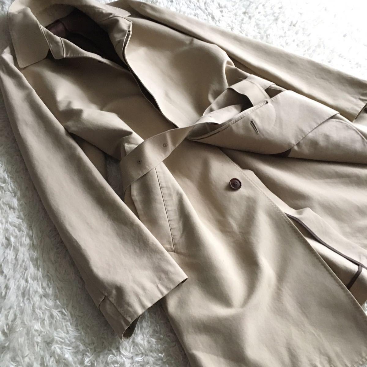 【シルク混】伊ロロピアーナ SPORT FABRICS×シップス ベルト付き スプリングコート メンズ XL_画像7