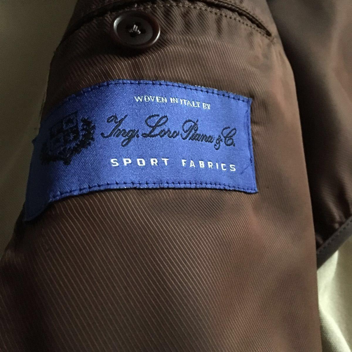 【シルク混】伊ロロピアーナ SPORT FABRICS×シップス ベルト付き スプリングコート メンズ XL_画像8