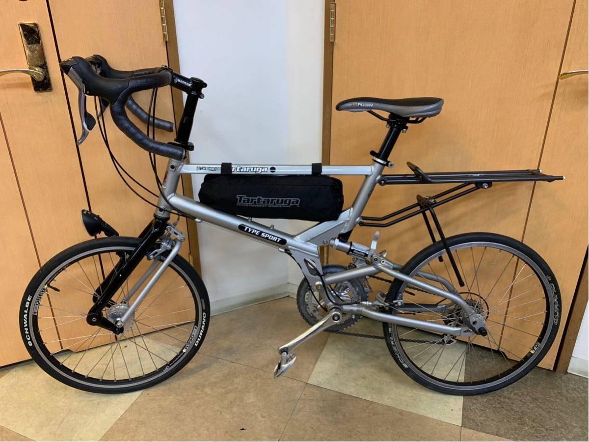 タルタルーガ タイプ・スポルト 20インチ 折り畳み自転車 京都市へ直接引き取り可能な方のみ落札して下さい. アフターパーツ多数 TARTARUGA_画像1