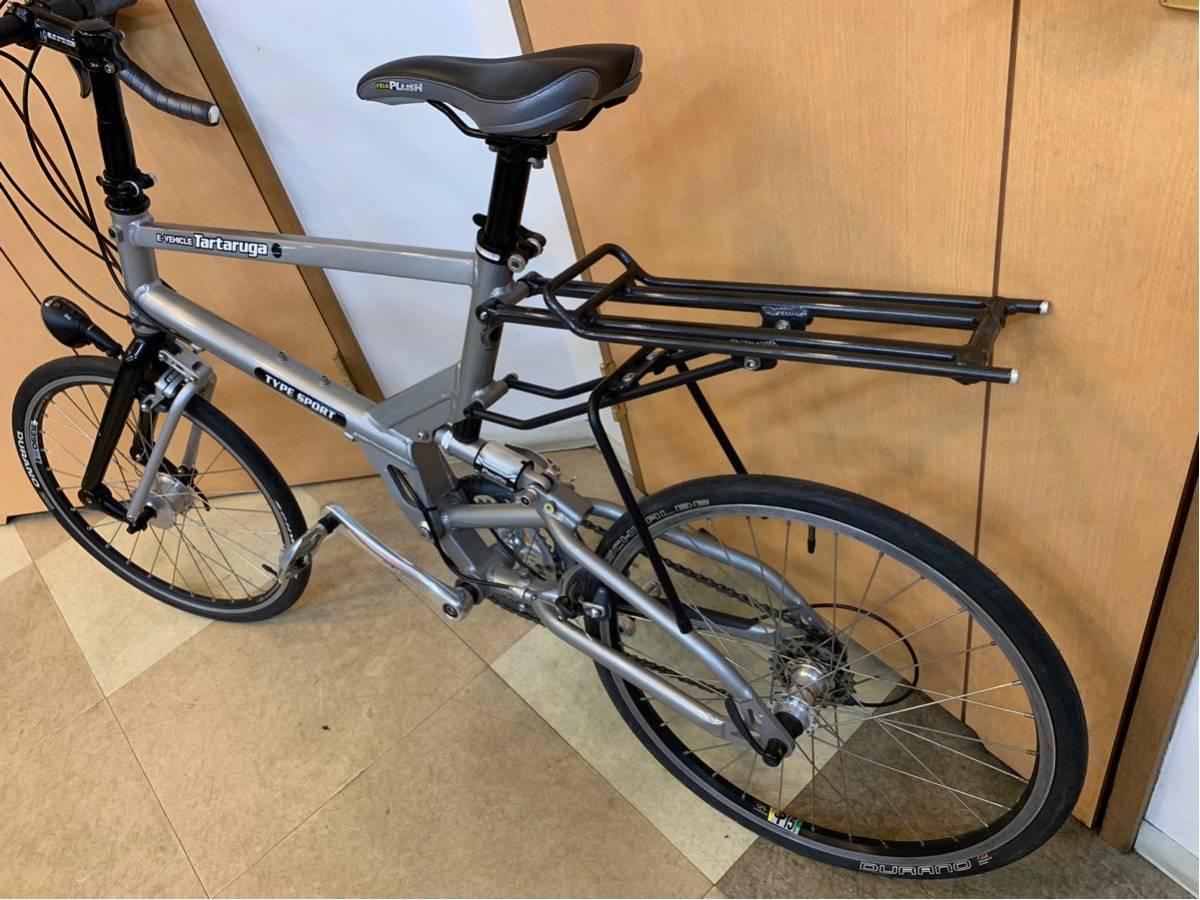 タルタルーガ タイプ・スポルト 20インチ 折り畳み自転車 京都市へ直接引き取り可能な方のみ落札して下さい. アフターパーツ多数 TARTARUGA_画像5