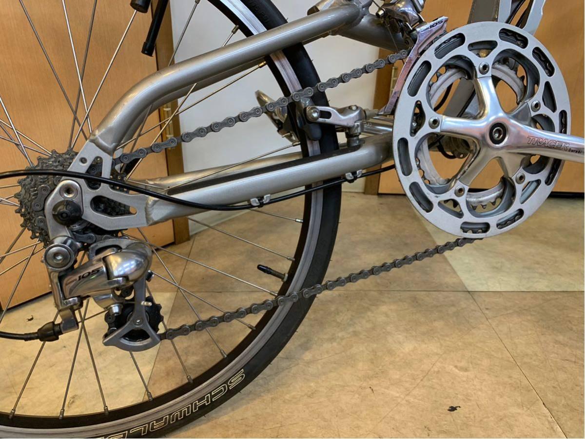 タルタルーガ タイプ・スポルト 20インチ 折り畳み自転車 京都市へ直接引き取り可能な方のみ落札して下さい. アフターパーツ多数 TARTARUGA_画像8