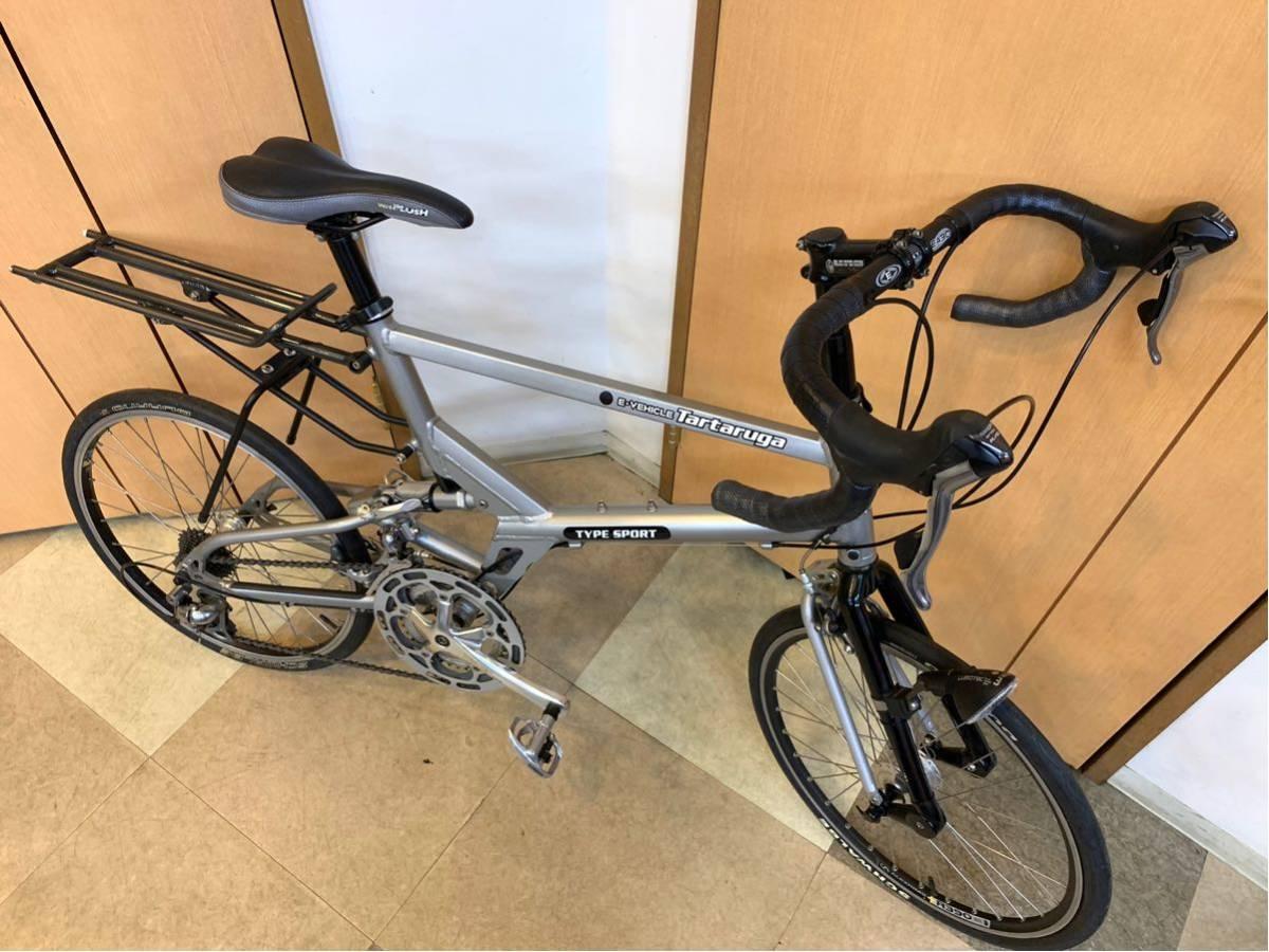 タルタルーガ タイプ・スポルト 20インチ 折り畳み自転車 京都市へ直接引き取り可能な方のみ落札して下さい. アフターパーツ多数 TARTARUGA_画像10
