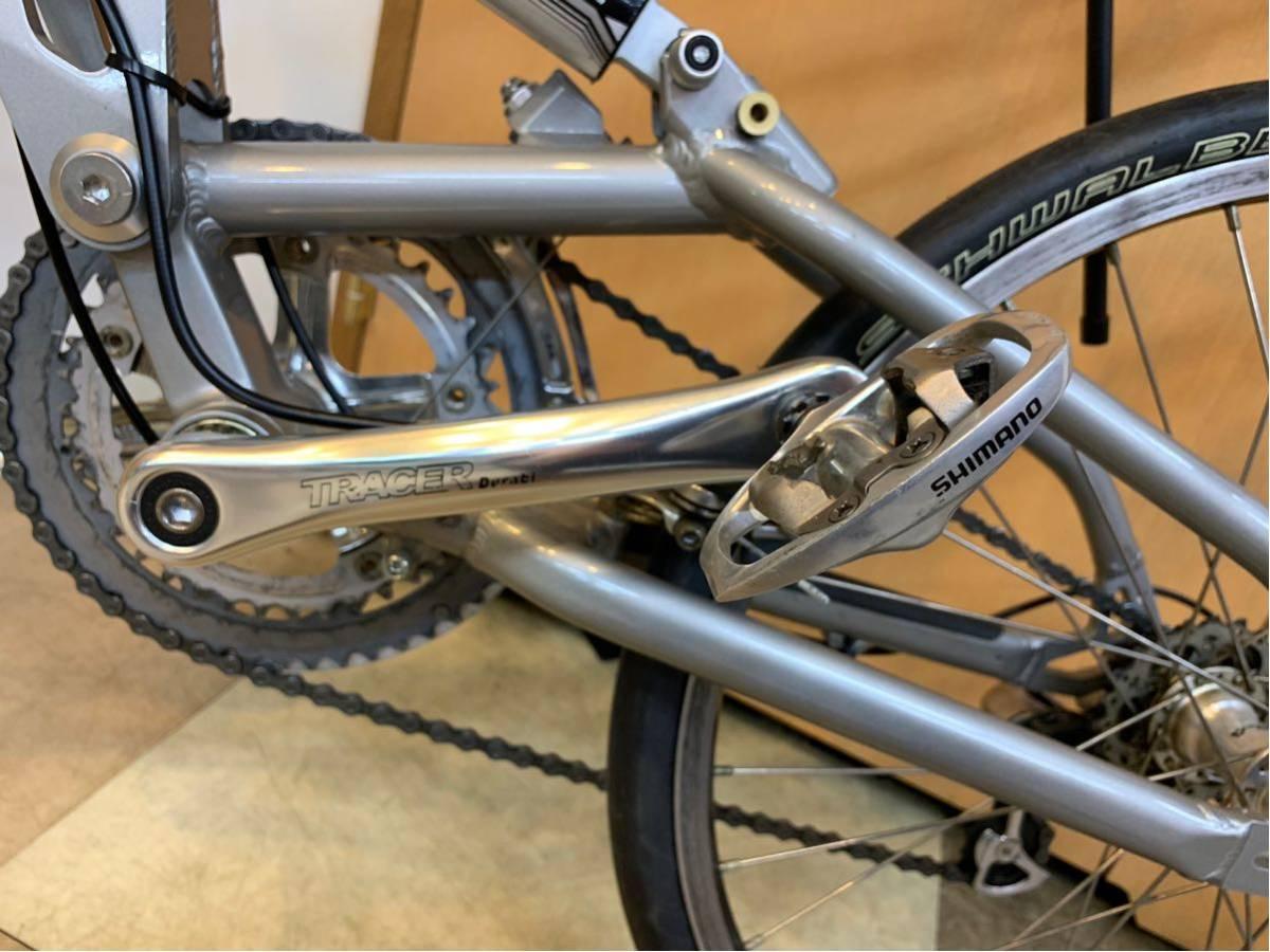 タルタルーガ タイプ・スポルト 20インチ 折り畳み自転車 京都市へ直接引き取り可能な方のみ落札して下さい. アフターパーツ多数 TARTARUGA_画像6