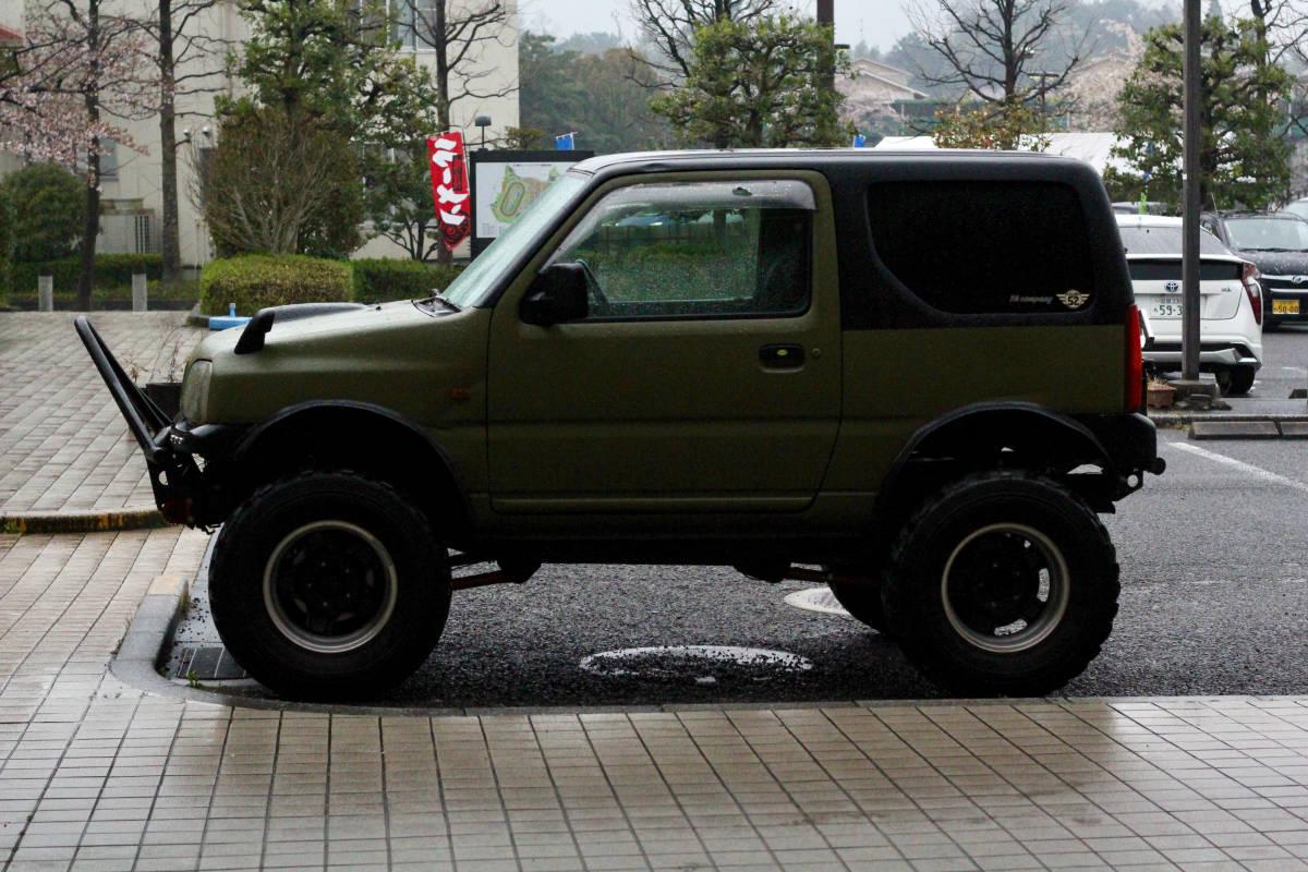 ジムニー クロカン ロック JA11.SJ30.JB23.JB64 ホイール タイヤ 逆履きマイナスオフセット 専用30ワイトレ付き MT2 7.50_画像2