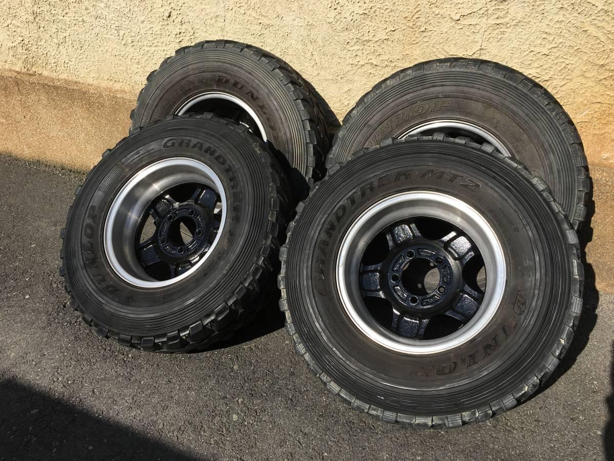 ジムニー クロカン ロック JA11.SJ30.JB23.JB64 ホイール タイヤ 逆履きマイナスオフセット 専用30ワイトレ付き MT2 7.50_画像5