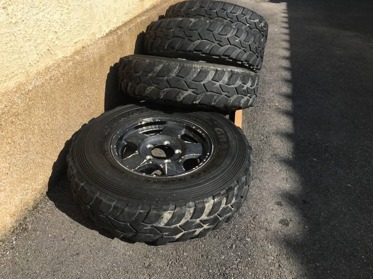 ジムニー クロカン ロック JA11.SJ30.JB23.JB64 ホイール タイヤ 逆履きマイナスオフセット 専用30ワイトレ付き MT2 7.50_画像6