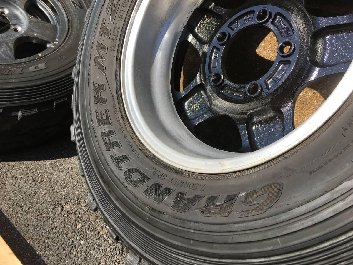 ジムニー クロカン ロック JA11.SJ30.JB23.JB64 ホイール タイヤ 逆履きマイナスオフセット 専用30ワイトレ付き MT2 7.50_画像8