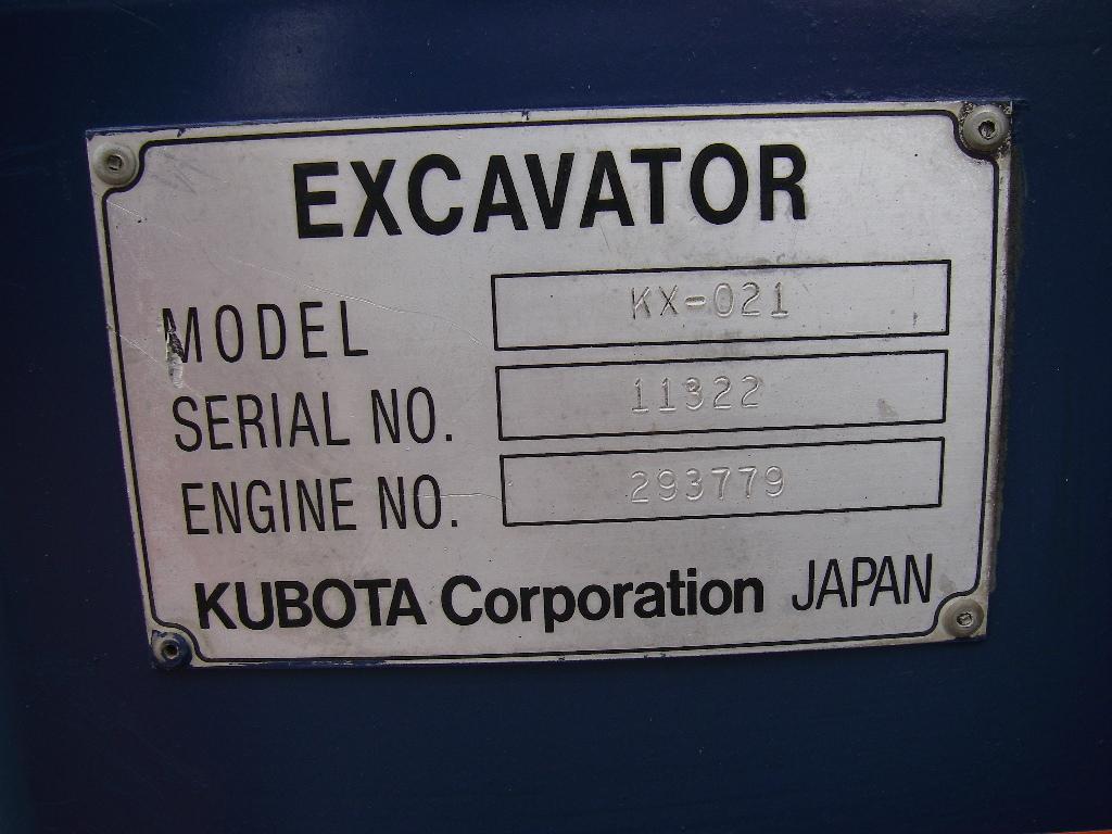 売り切り!! クボタ パワーショベル KX-021 追加拡大画像あり!_画像7