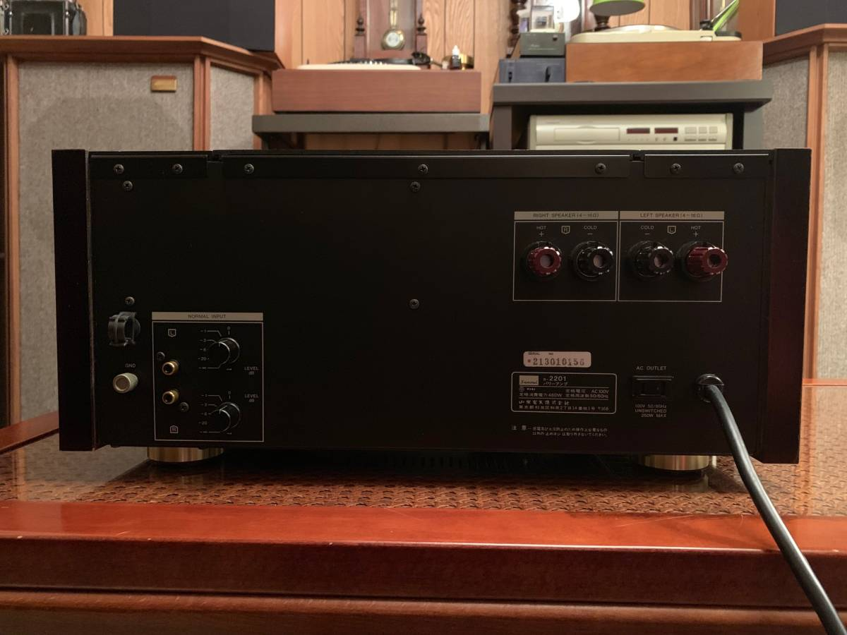 Sansui B2201 Power Amplifier Fire サンスイ パワーアンプ B-2201 完全動作品  ワンオーナー_画像6