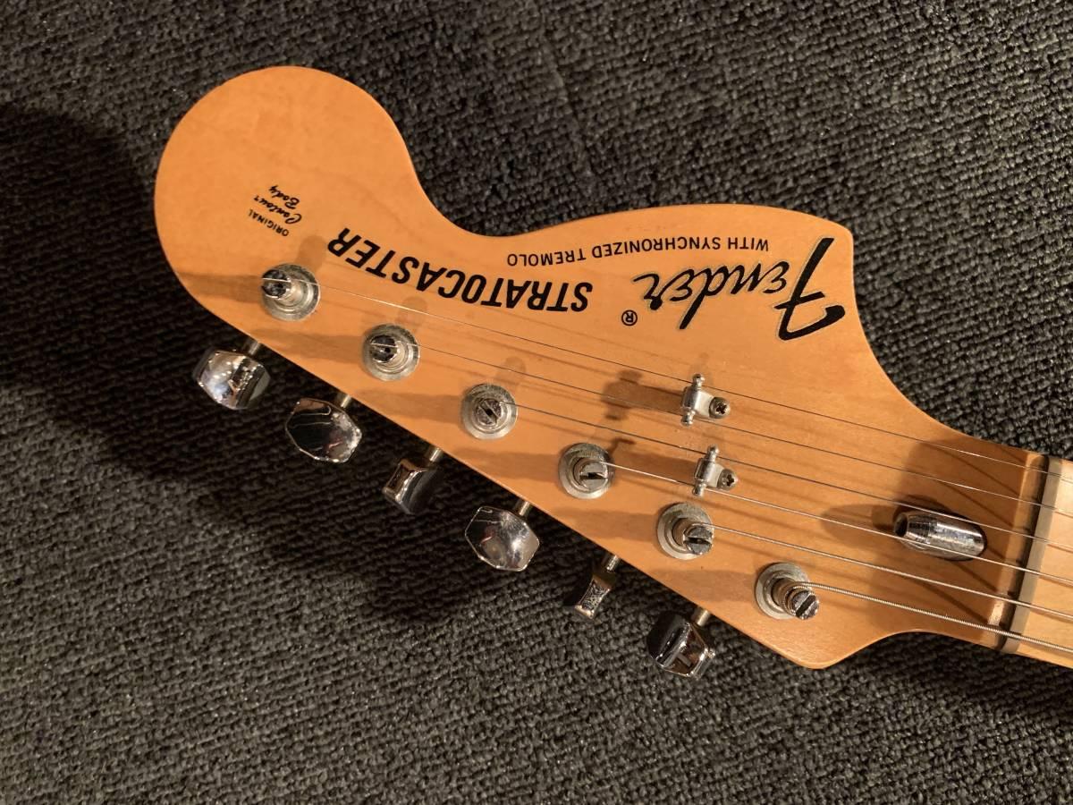 HS-3搭載 富士弦楽器製造 Fender Japan ST71-SC DK-250 YWH/M No.031419 オリジナルスキャロップ イングヴェイ・マルムスティーン _画像3