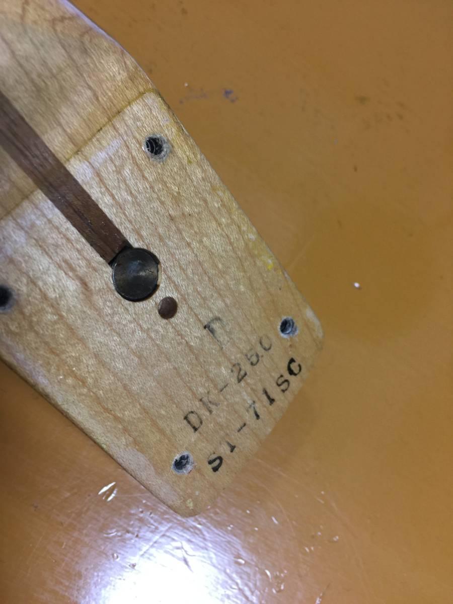 HS-3搭載 富士弦楽器製造 Fender Japan ST71-SC DK-250 YWH/M No.031419 オリジナルスキャロップ イングヴェイ・マルムスティーン _画像6