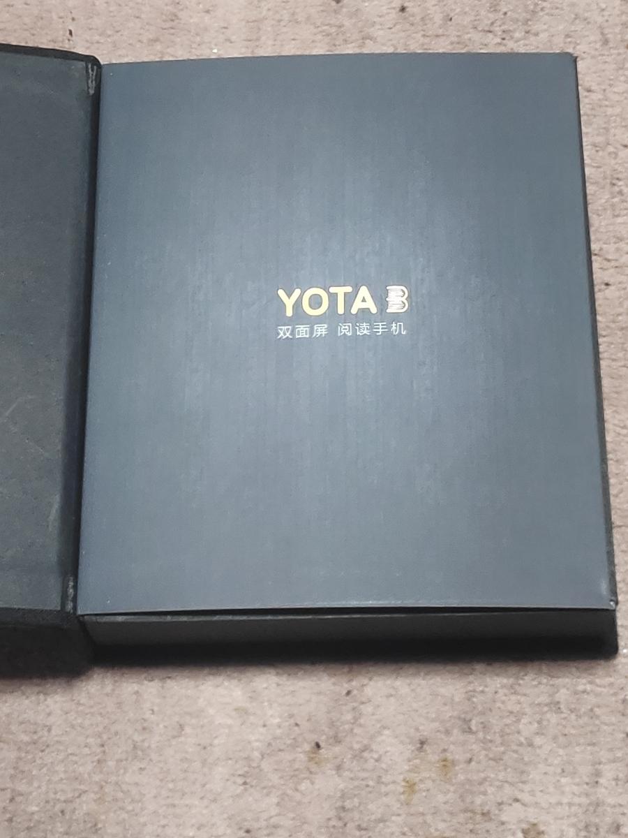 中古美品 ジャンク扱い yotaphone yota3+ 両面ディスプレイ eink 付属品完備_画像4