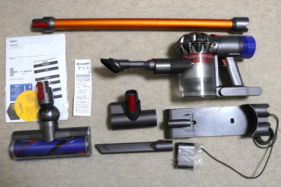 dyson ダイソンSV10コードレスクリーナー V8 fluffy 掃除機 ヨドバシカメラ購入 ダイレクトドライブクリーナーヘッド