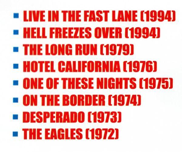 【MP3-CD】 Eagles イーグルス 8アルバム 92曲収録_画像3