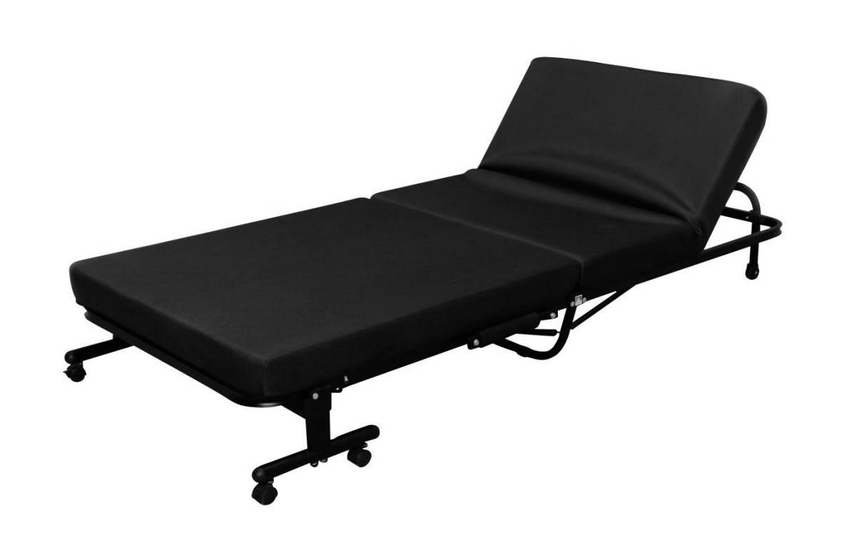 ベッド 折りたたみ シングル 折りたたみベッド アイリスオーヤマ 高反発 リクライニング 収納コンパクト 折り畳み 送料無料_画像7