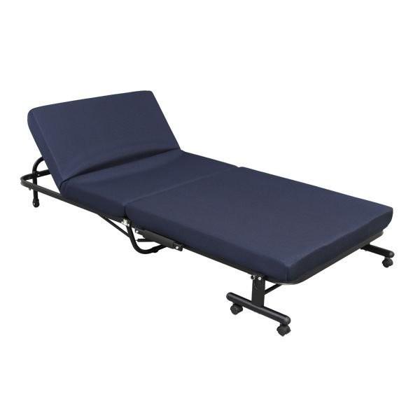ベッド 折りたたみ シングル 折りたたみベッド アイリスオーヤマ 高反発 リクライニング 収納コンパクト 折り畳み 送料無料_画像6