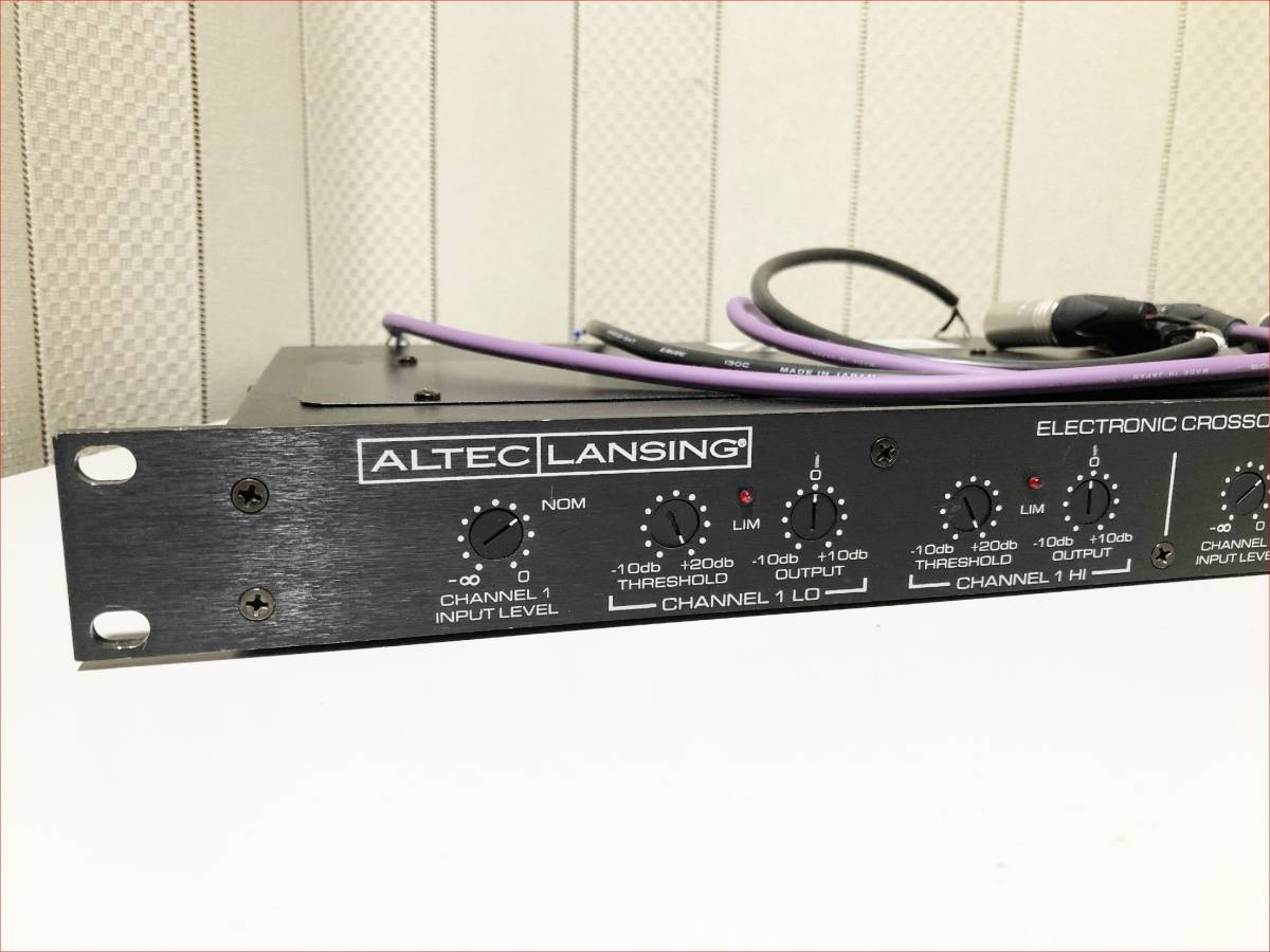 ALTEC 1632A stereo crossover used operation goods XLR Input