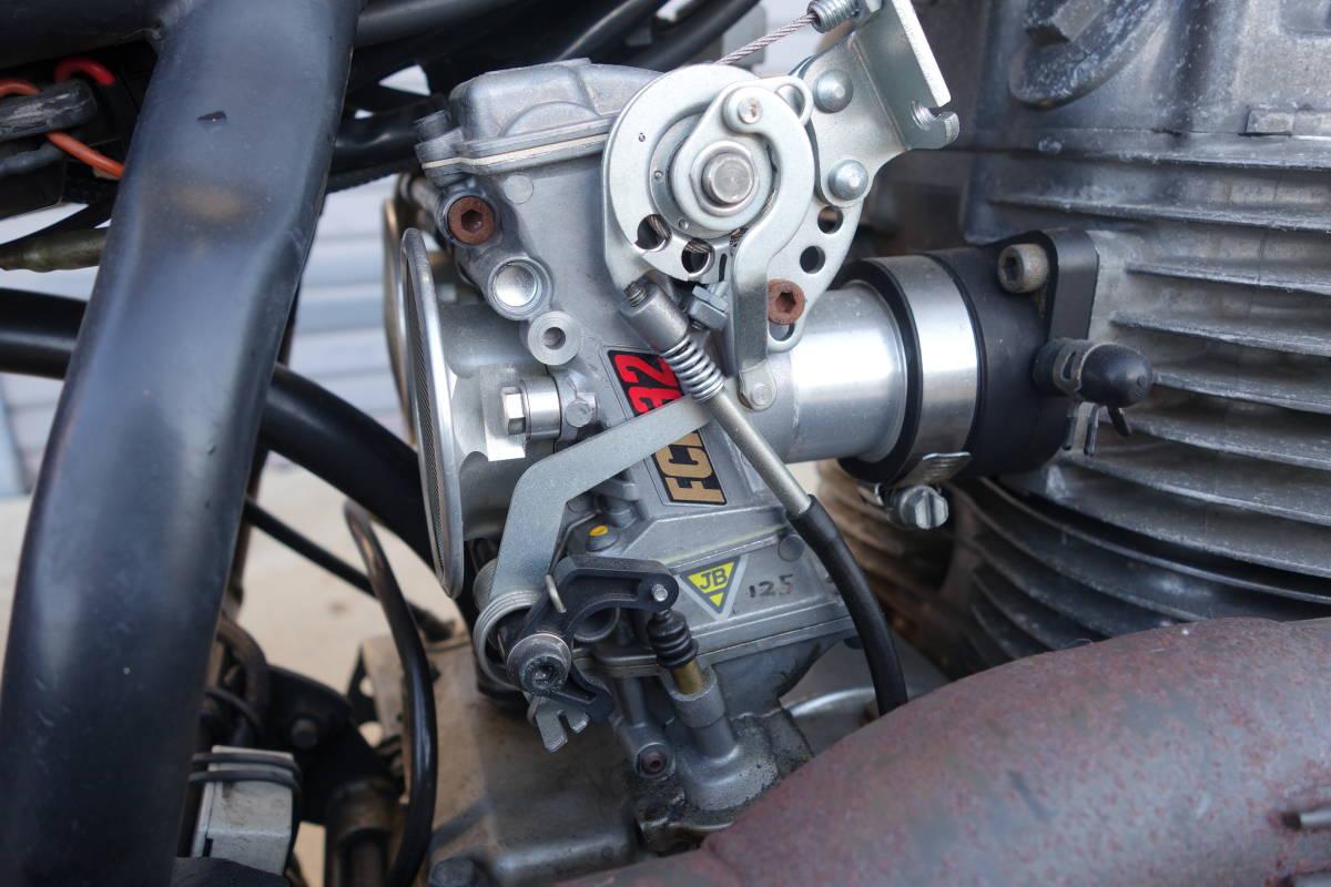 [個人出品]XS250 400エンジン FCRキャブ装着 トルク凄い 絶好調 各所整備済み チョッパー ボバー 全国登録代行いたします! / 旧車 SR400_画像9