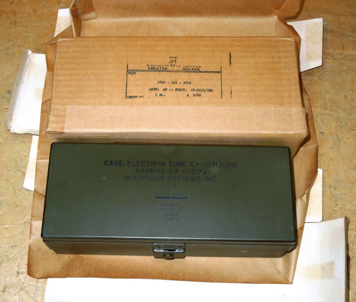 CY-1031/URR 汎用性無線機の予備品箱 未使用品_画像5